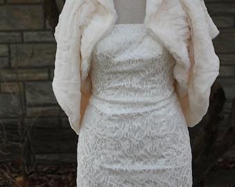 faux fur shrug bolero Wrap,wedding bolero, bridal wrap