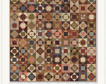 Miss Rosie's Comfort Zone Fat Eighth or Fat Quarter Friendly Quilt Pattern 70 x 77
