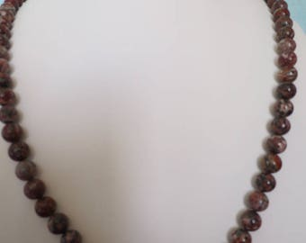 Marbled stone beads necklace