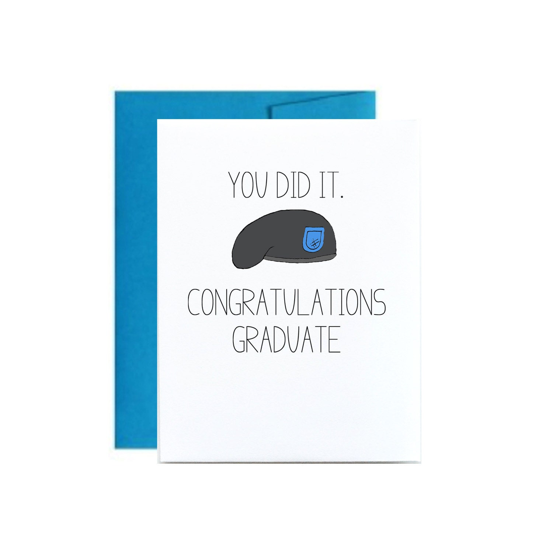Army Basic Training Graduation Card Bct Military Congrats