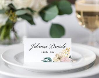Blush Wedding Place Cards, Wedding Place Cards Template, Rustic Wedding Place Cards, Wedding Table Decor, Printable Wedding Place Cards