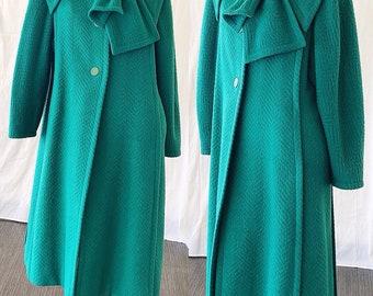Renato Balestra Italy Coat 70s 80s Avant Garde Cashmere Wool Couture Winter Coat