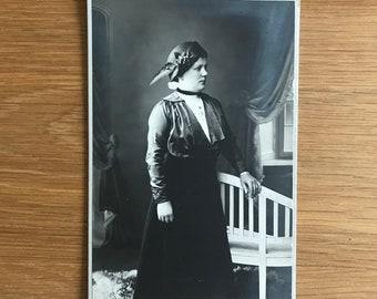 Vintage Photo -  V.E.Gran Photo Studio Horni Ruzodole: Cabinet Card of a Woman