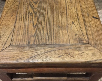 Antique Chinese Ming Style Elm Wood Table