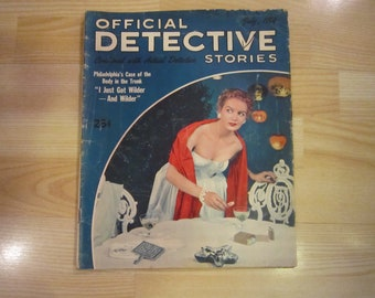 Official Detective Stories July 1954 - body in the trunk case