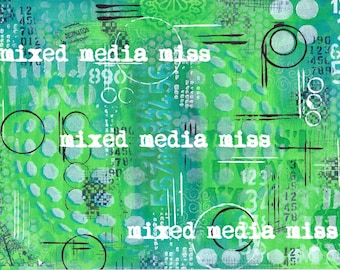 Art Journal Background - Mixed Media digital download