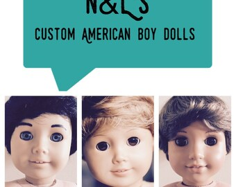 Custom American boy doll 18 inch made to specifications