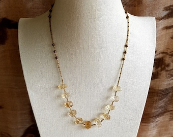 Lemon Quartz necklace.