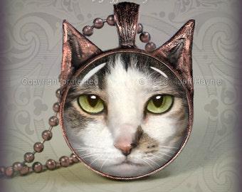 DC4 DILUTE CALICO Cat pendant