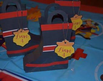 Fireman boot treat box