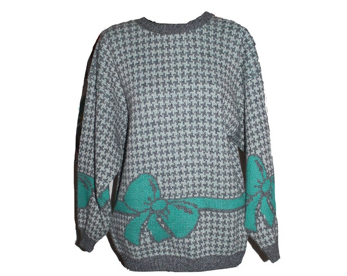 Happy Holidays Gift Wrapped Present Tiffany Blue Party Sweater
