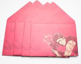 Star Wars Han Solo 5x7 Envelopes, card envelopes, invite envelope, thank you, large envelopes, party favor, gift card envelope