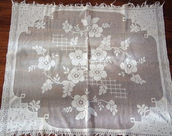 Lace Panel Net Lace Filet Tablecloth Centerpiece Curtain