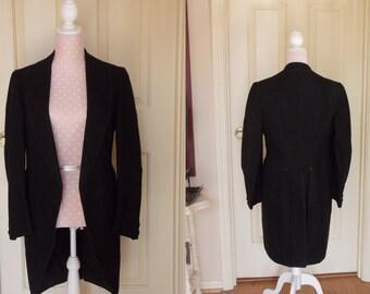 Edwardian gentleman's morning jacket, S/M tail coat, Victorian gentleman's jacket, Edwardian formal wear, Edwardian men's attire, coat tails