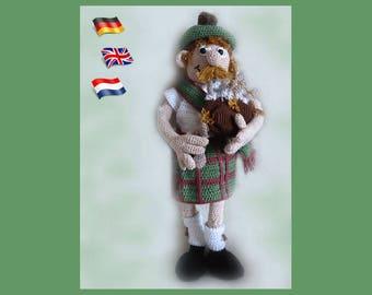 Scotsman MacKenzie,Amigurumi doll crochet pattern, crocheted dolls pattern, amigurumi PDF pattern, Instant download