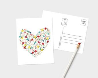 Heart Postcard, Postcard For Boyfriend, Postcards, Love Postcard, Romantic Postcards, Floral Postcards, Miss You Postcard, We Miss You