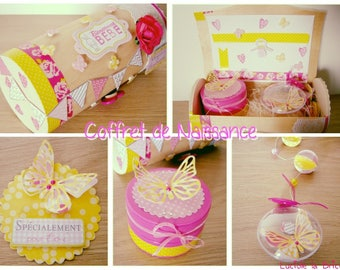 Baby girl pink and Yellow Butterfly gift box