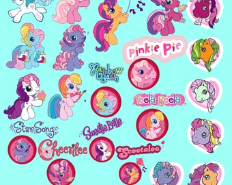 My Little Pony Clipart Party 34 PNG Holiday Little Pony Clip Art Set Digital Invitations Printable Clipart Graphic 300 dpi INSTANT DOWNLOAD