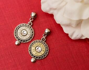 Bullet Casing Jewelry - Circle Dot Bullet Pendant (45 Auto)
