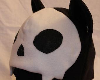Skull Cat Fleece Hat - VARIOUS COLORS
