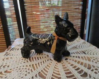 Vintage 1950s Black Scottie Dog Scotty Dog West Island Terrier Ornament