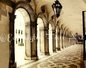 Italy Architecture Arches photo Travel wall art Columns picture Venice Italy Photo Architectural print Venice Italy decor San Marco Square