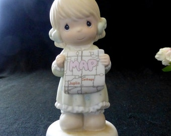 """Enesco Precious Moments Collection """"I Would be Lost Without You"""" #526142 Porcelain Figurine"""