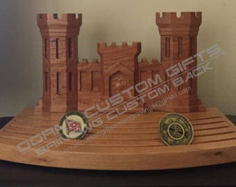 Coin Holder, Military Coin Holder, Engineer Castle Coin Holder
