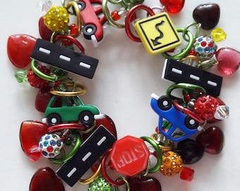 Travel bracelet/Cars/Beadiebracelet