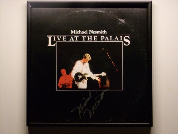 AUTOGRAPHED! Glittered Record Album - Michael Nesmith - Live At The Palais