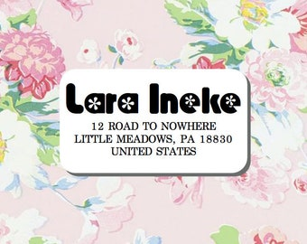 Return Address Label, Family Address Label, Calligraphy Address Label, Save The Date Address, Wedding Labels, Custom Return Address Label