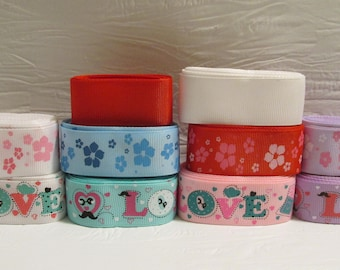MAKE YOUR OWN: Grosgrain ribbon bundle, select 12 yards of a variety ribbons for one price!