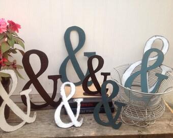 Ampersand, metal Ampersand, 12 inch, 10 inch, & 8 inch Ampersands, Distressed Ampersand