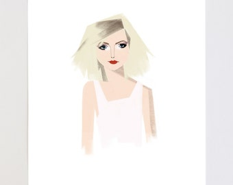 Debbie Harry Portrait Illustration Art Print