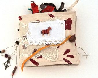 Handmade Rustic Vintage Nostalgia Junk Journal - Album - Scrapbook - Art Journal - Adventure Book - Smash Book - Writing Diary