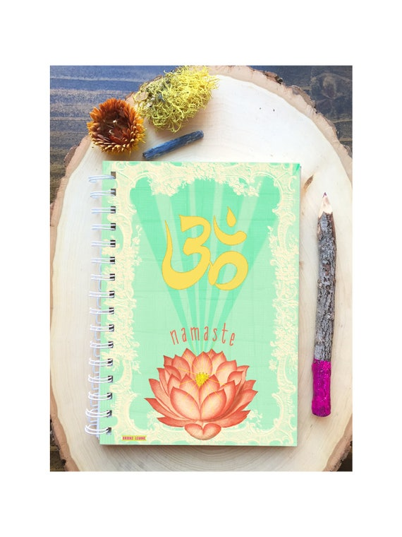 Namaste Spiral Bound Notebook - Colorful Yoga - Om Notebook -  Hard Notebook - Spiral Journal - Back to School - Gift - Journal