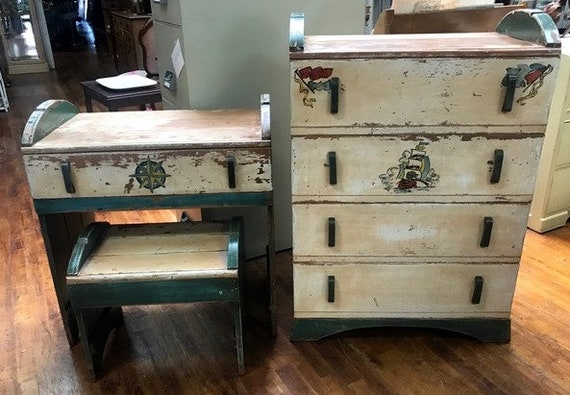 Rustic dresser and desk shabby chic