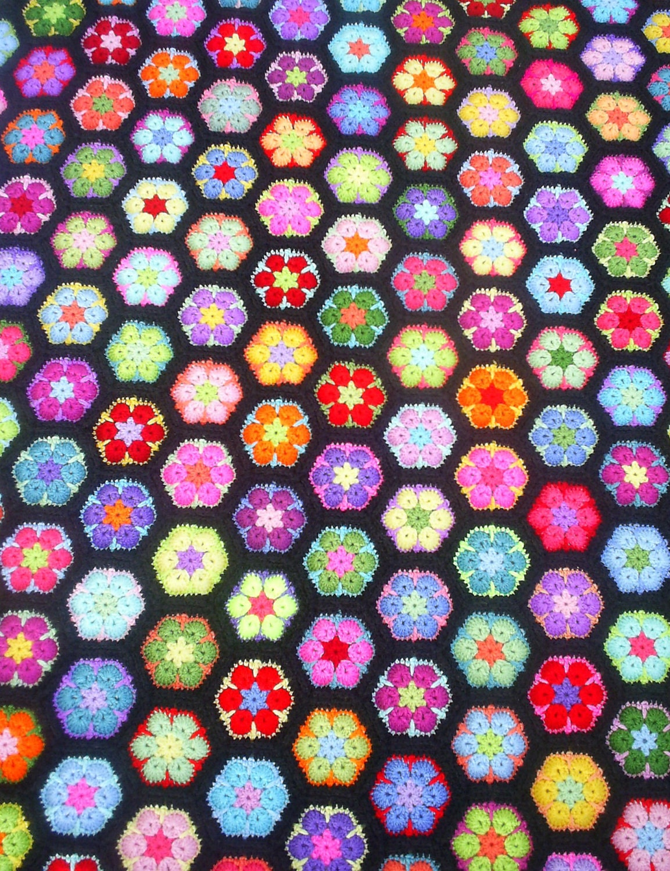 Fancy Oma Sechseck Häkelmuster Images - Decke Stricken Muster ...