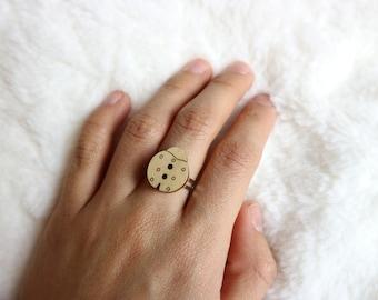 Wooden Ladybug Ring