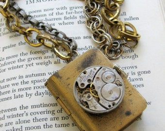 Immortal Autumn Steampunk Neo Victorian Unisex Keepsake Locket Necklace by BellaSmiles