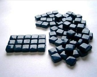Micro Mosaic 8mm Tiles 100 pack Mosaic Heaven Micro Mosaic Tiles, Rich Blue D4 Tesserae, Tessera.