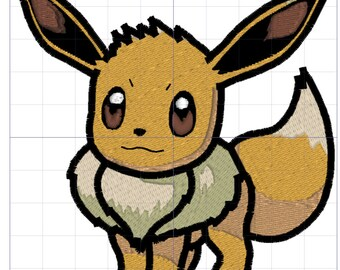 Eevee Pokemon Embroidery Design