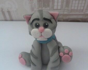 Edible sugar paste Sweet little kitty cat cake topper,cat,kitten,boy,girl,animal,cake decoration,bithday