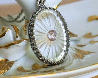 Saphiret Saphirine Sun Ray Necklace Pendant