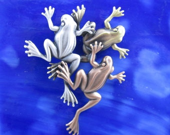 Frog Brooch- Froggy- Frog Pin- Frog Gifts- Frog Jewelry