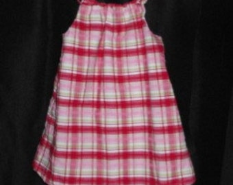 Adorable Sundress in Red Plaid Print