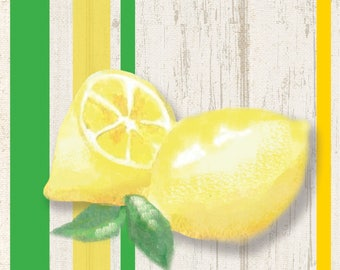 Lemonade lunch napkins/ Lemonade party / Lemonade/ Lime / Summer Party /
