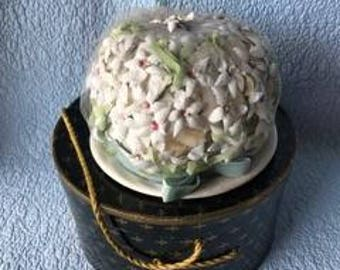 ladies victorian flowered hat