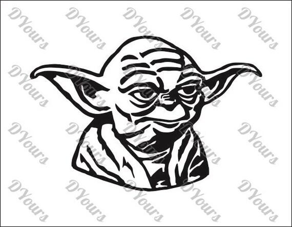 yoda star wars vector model svg cdr ai pdf eps files rh etsy com vector hd free yoda vector silhouette