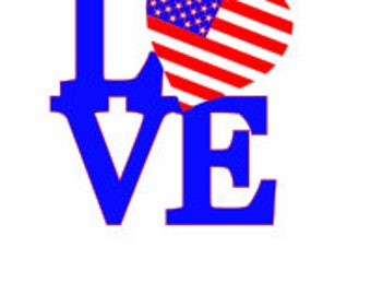 Love with Flag SVG